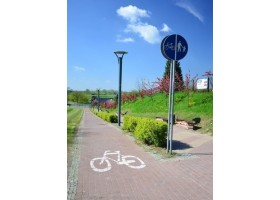 Zdjęcia ciągu pieszo-rowerowego